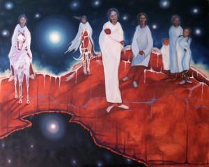 The Birth of Sky Woman ©2009 Janice Tanton.