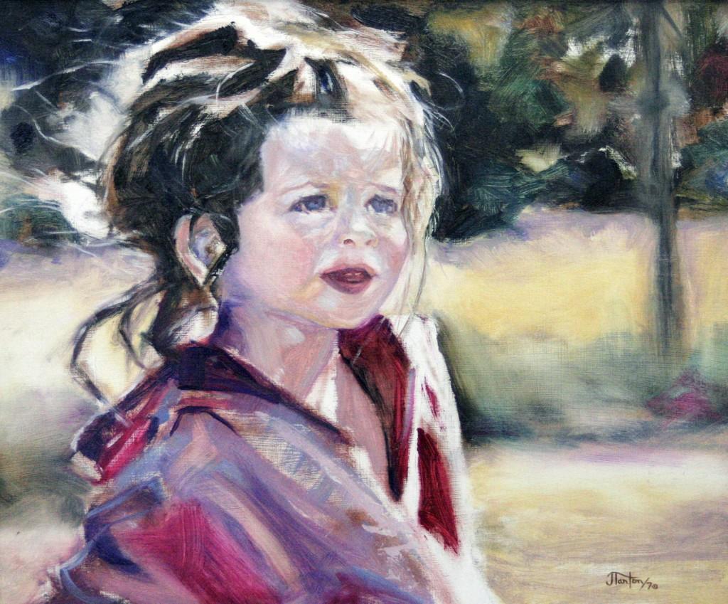 """""""Girl in the Park"""" © 2006 Janice Tanton."""