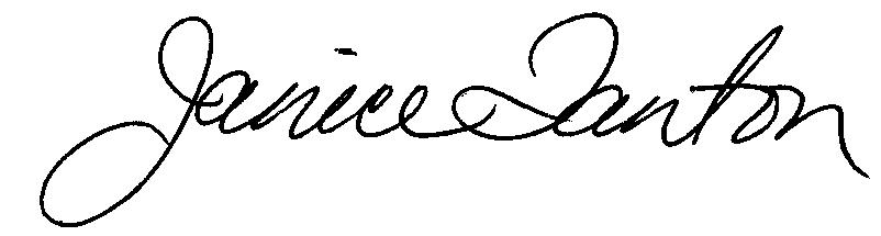 Janice Tanton signature