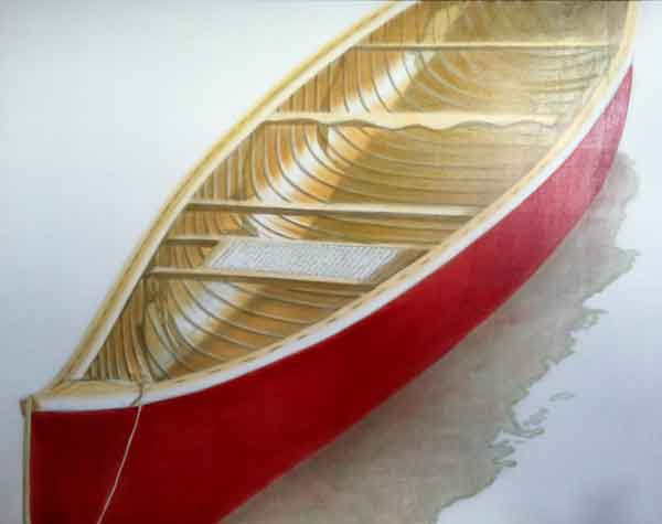 Red Canoe #11 In Progress
