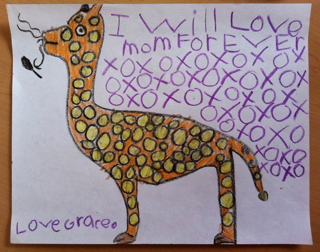 Grace's Giraffe drawing