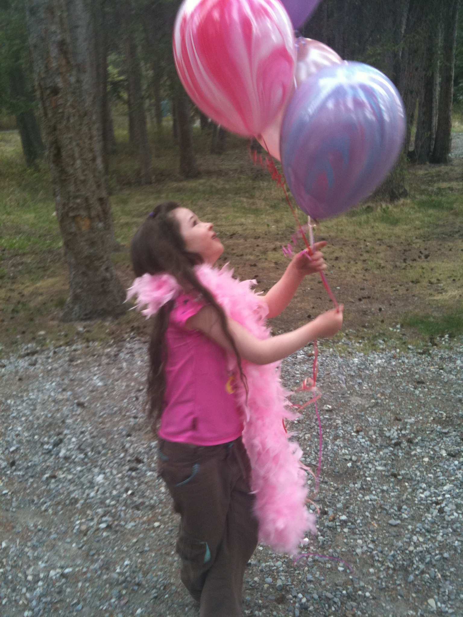 Grace and balloons