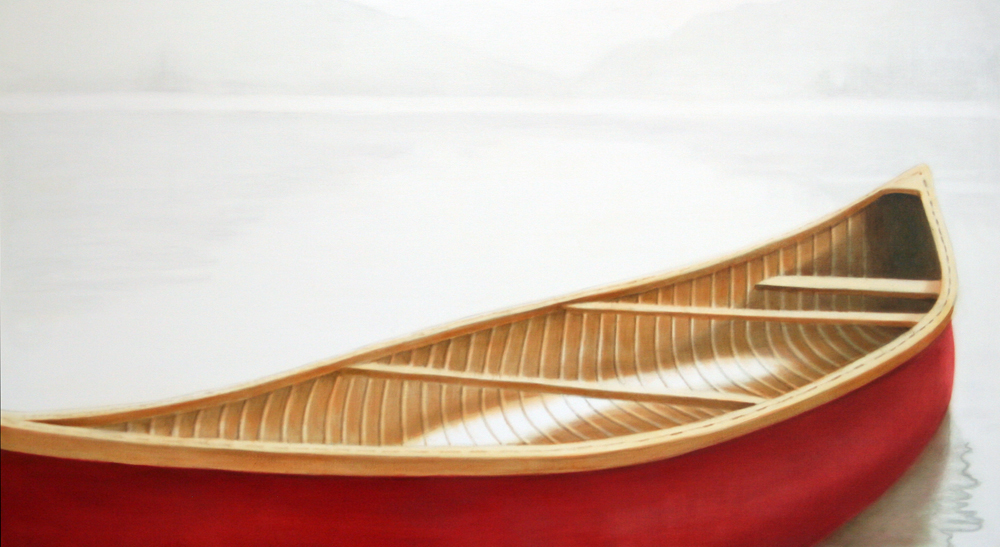 red canoe # 16 by Janice Tanton