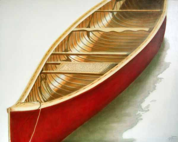 Undercurrents Series - Red Canoe #11 ©2011 Janice Tanton.
