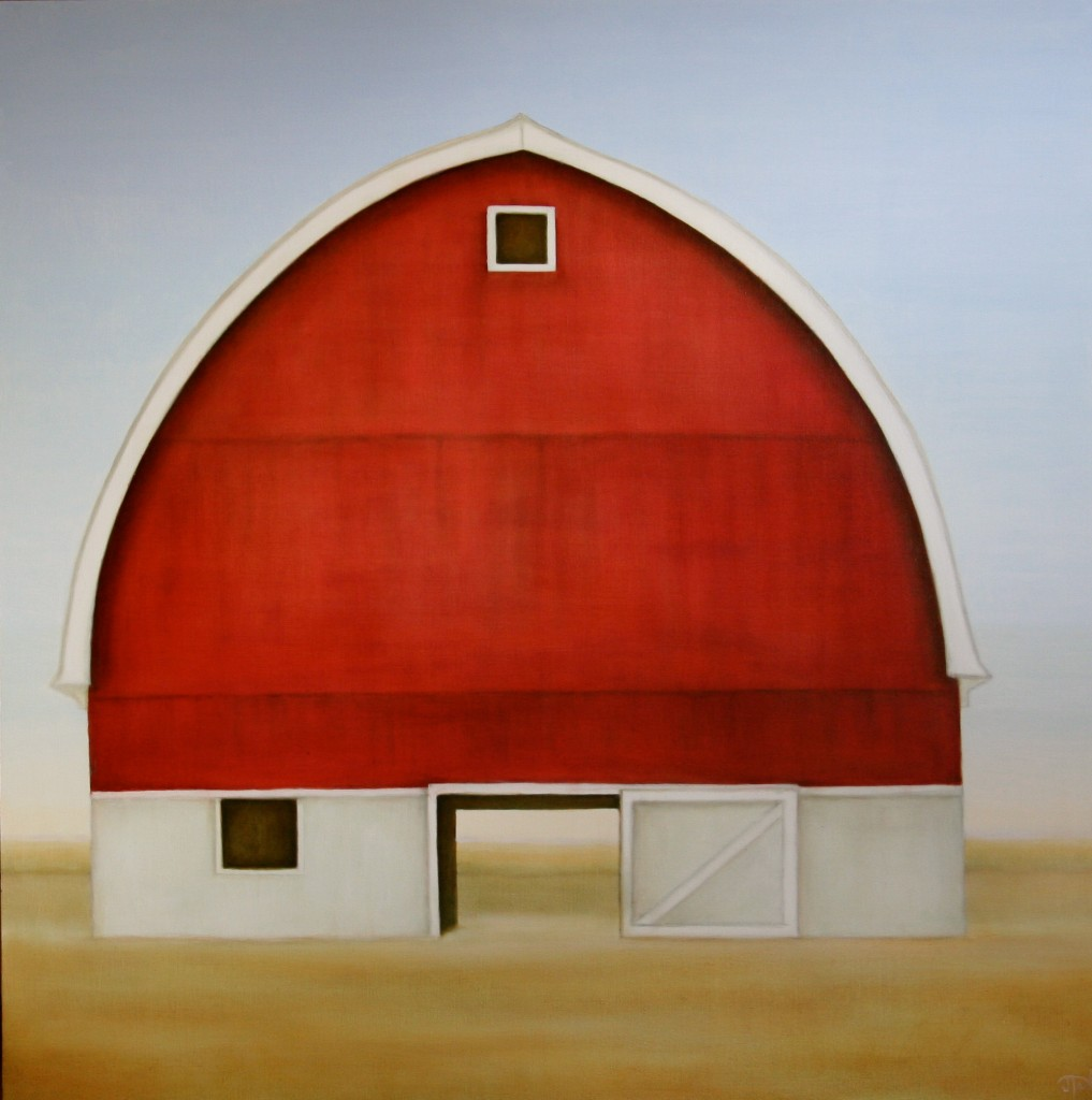 Here To Stay ©2011 Janice Tanton. 48x48, oil on linen.