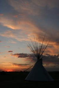 Sunset at Siksika