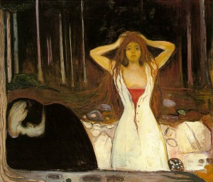 """Ashes"" by Edvard Munch."