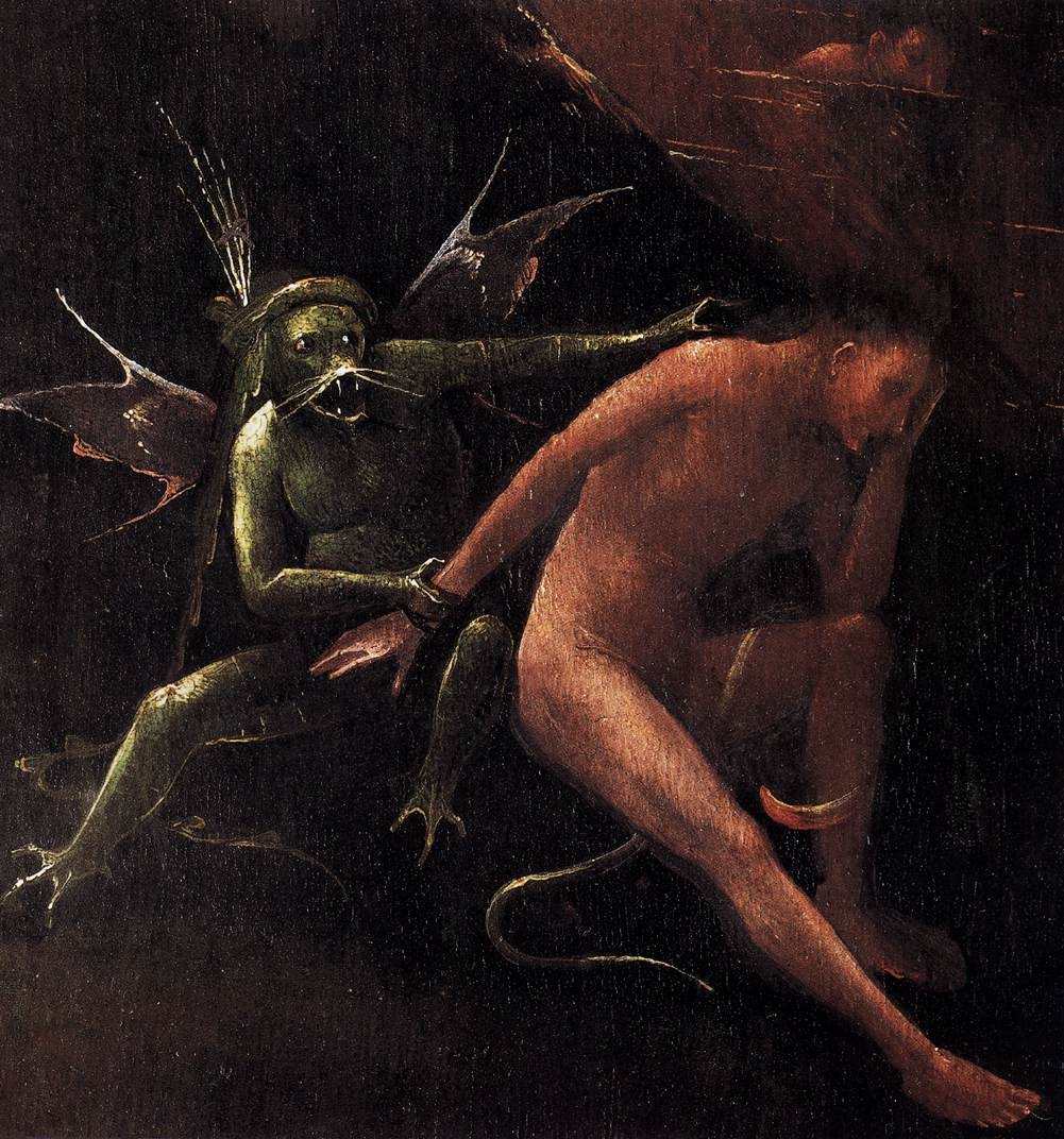 """Hieronymus Bosch - Detail from """"Hell"""""""