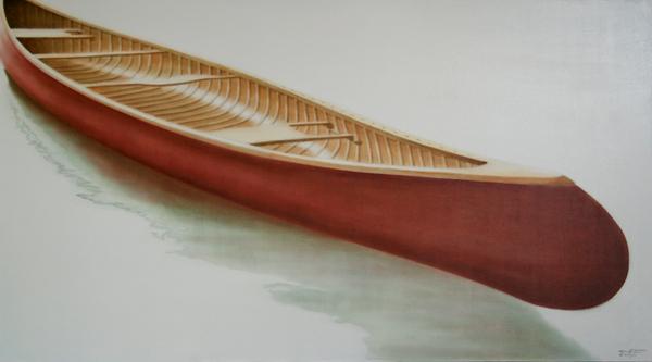 William's Ride - ©2011 Janice Tanton. Oil on linen. 40x72