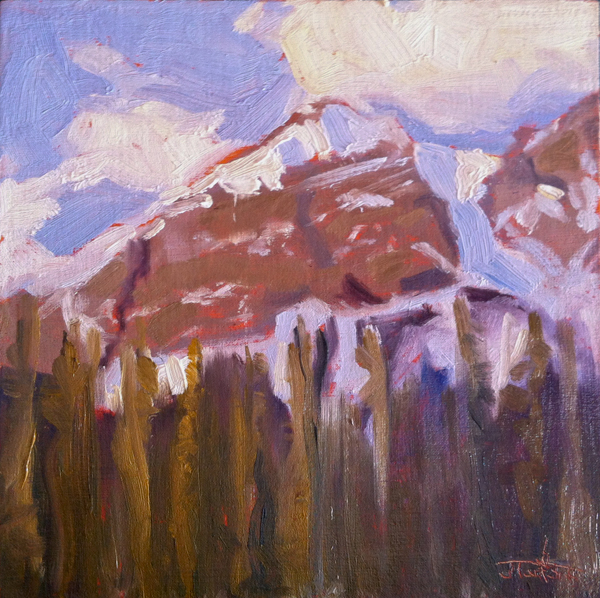 """Grassi At Three"" ©2012 Janice Tanton. Oil on linen panel. 8""x8"""