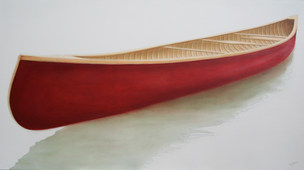 """Just Get Me There"" ©2012 Janice Tanton. Oil on linen 40""x72"""