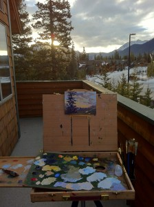 Deck Plein Air Painting Setup