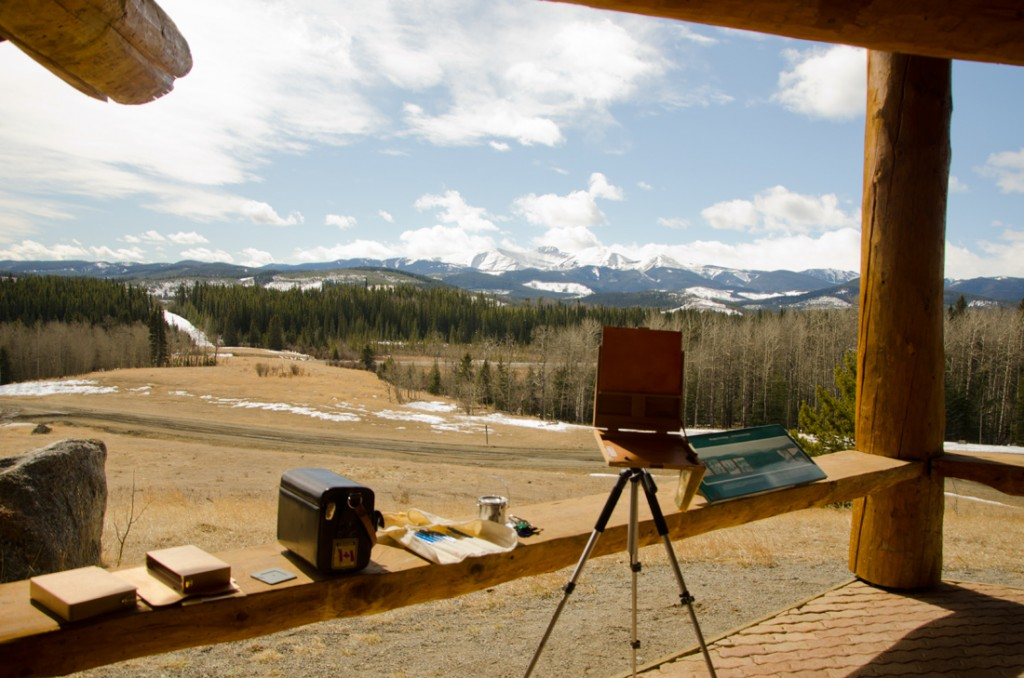 Moose Mountain plein air painting location - Janice Tanton, Kananaskis Country