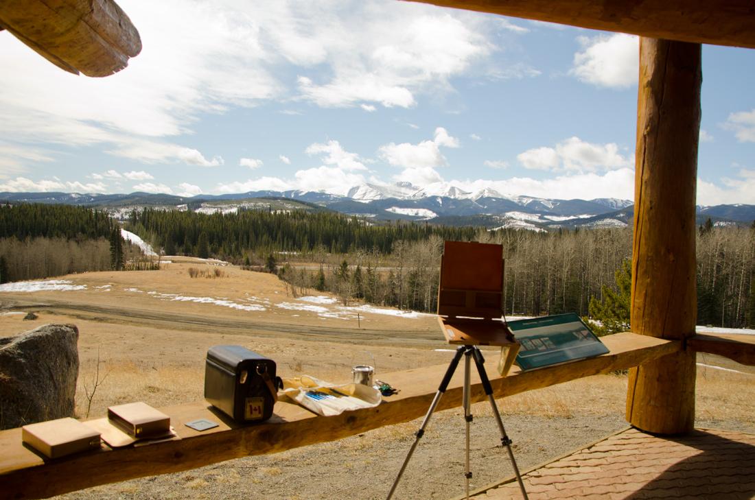Moose Mountain plein air painting location - Janice Tanton, Kananaskis Country