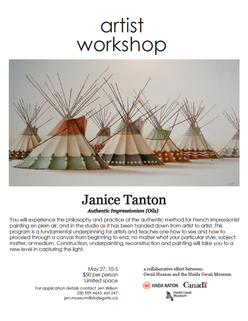 Janice Tanton workshop at Haida Museum, Haida Gwaii