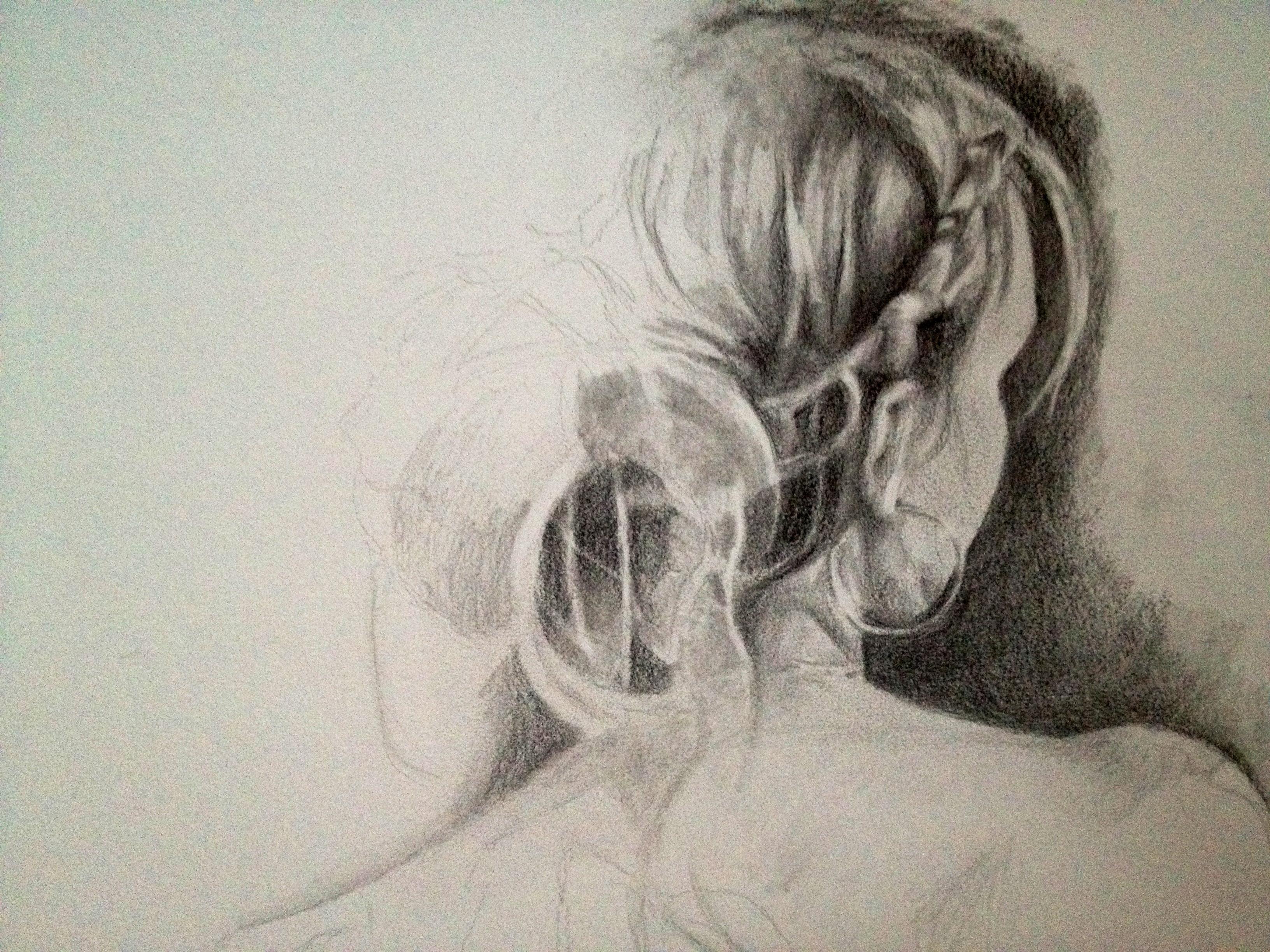 "Chantal - Working Sketch ©2012 Janice Tanton. Graphite on paper. 14""x18"""