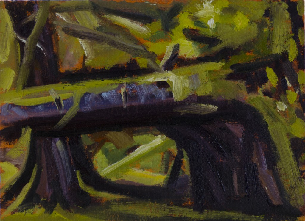"""Window - Near Marco Island"" - ©2012 Janice Tanton. Oil on linen. 6""x8"""