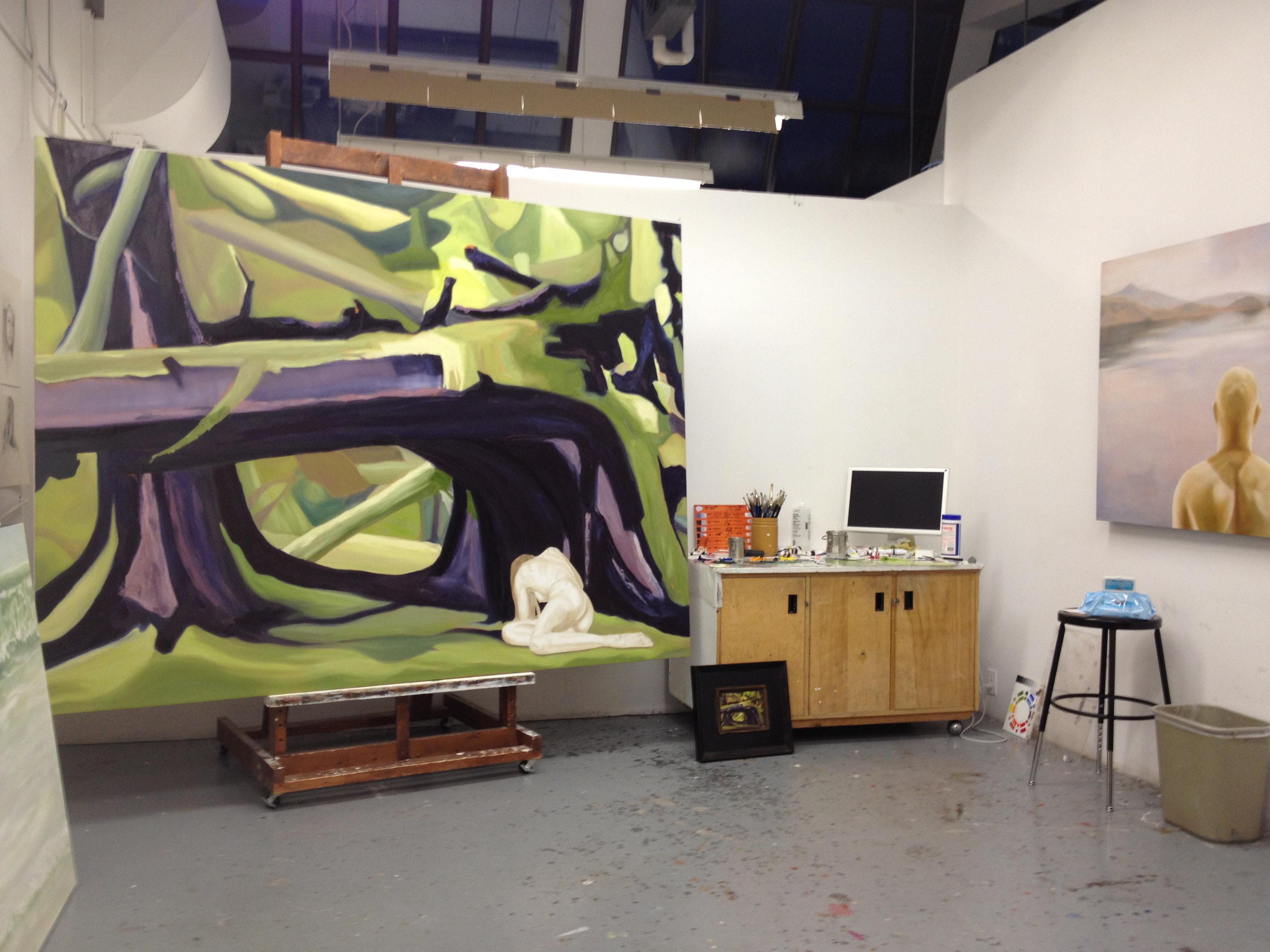Janice Tanton's studio with works in progress at The Banff Centre.