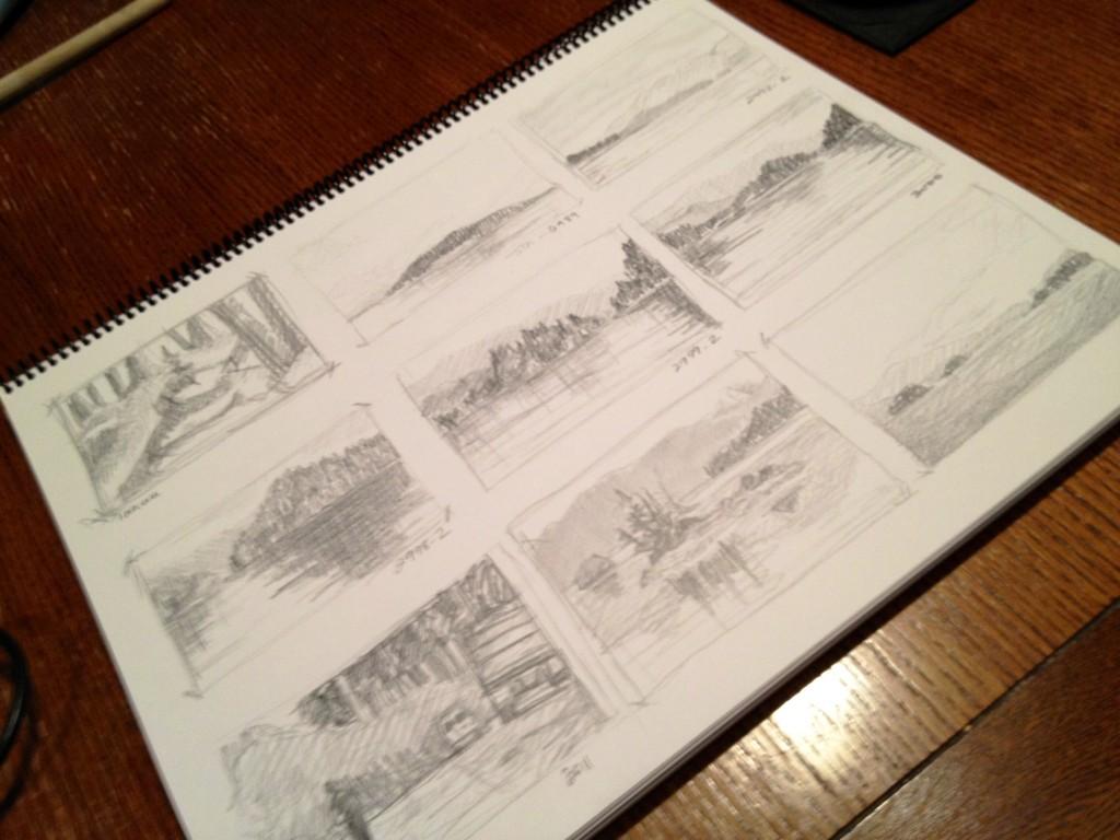 Thumbnail Sketches 2 - Janice Tanton, Gwaii Haanas National Park