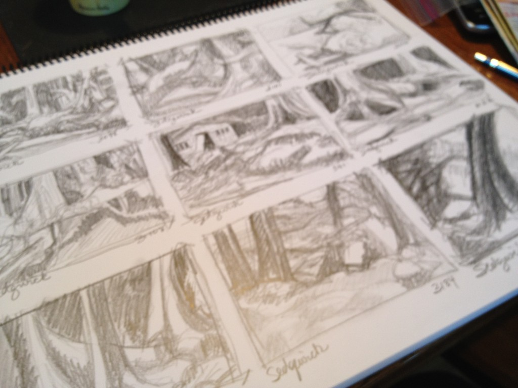 Thumbnail Sketches 3 - Janice Tanton, Gwaii Haanas National Park