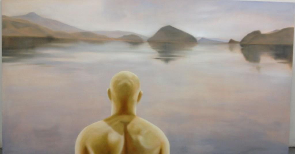 """State of Interdependence - Alliford Crossing, Haida Gwaii"" ©2012 Janice Tanton. 40x72. Oil on linen."