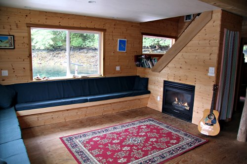 Comfy Living Room in the Float Lodge