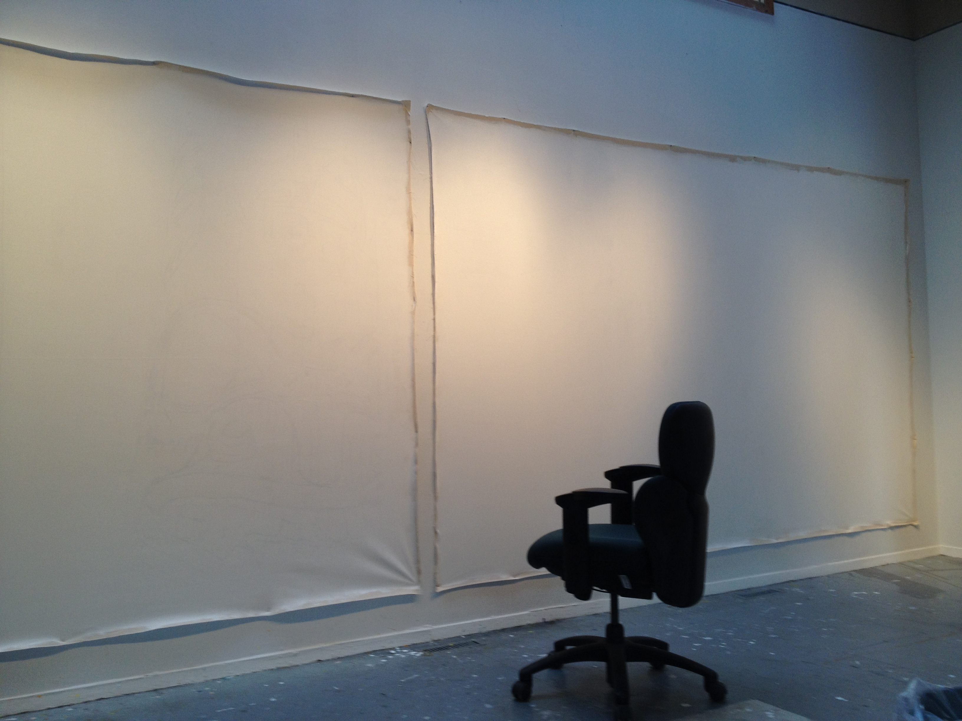 Big Blank Canvas all prepped and ready to go in the Gerin-Lajoie Studio at The Banff Centre.