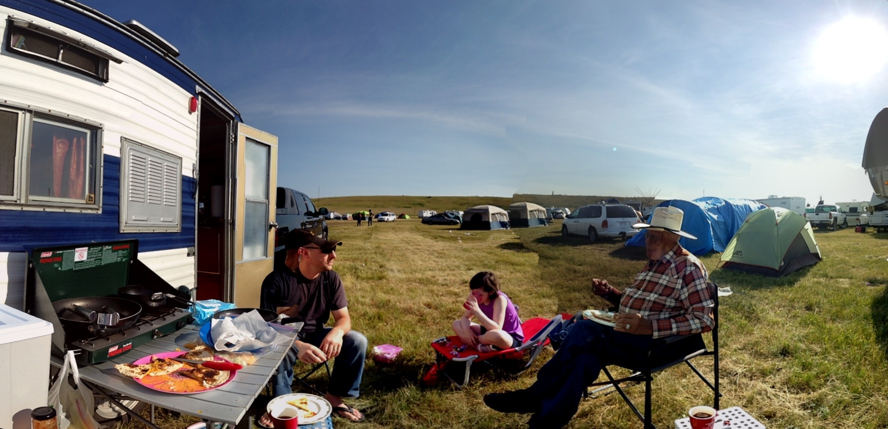 Family Time At The Siksika Pow Wow