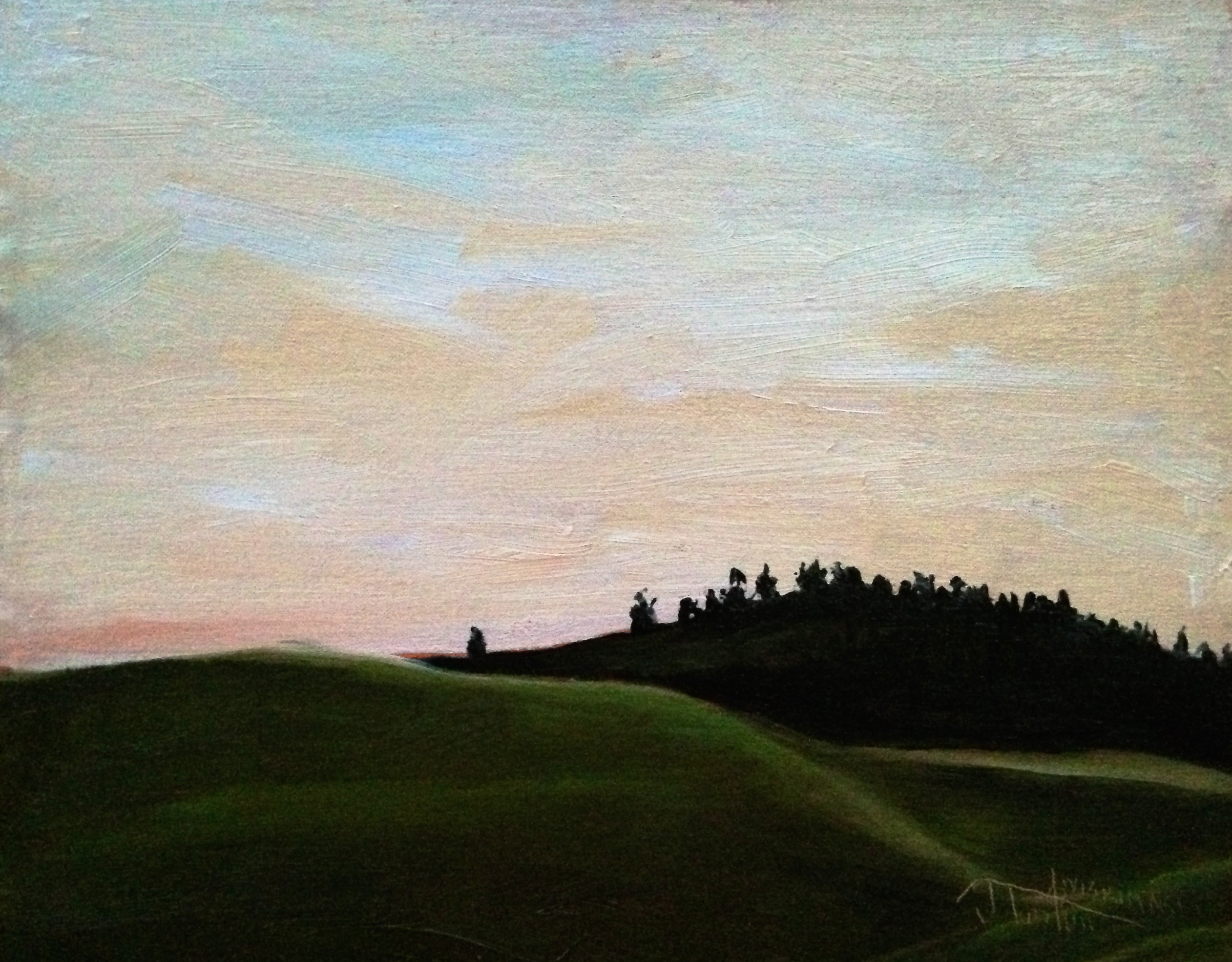 """""""This Must Be The Place - Foothills of the Livingstone Range"""" ©2013 Janice Tanton. Oil on linen panel. 8""""x10"""""""
