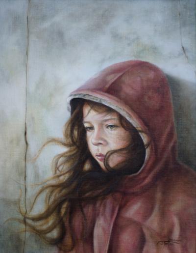 The Artist's Daughter - ©Janice Tanton 2012. Oil on linen. http://www.janicetanton.com