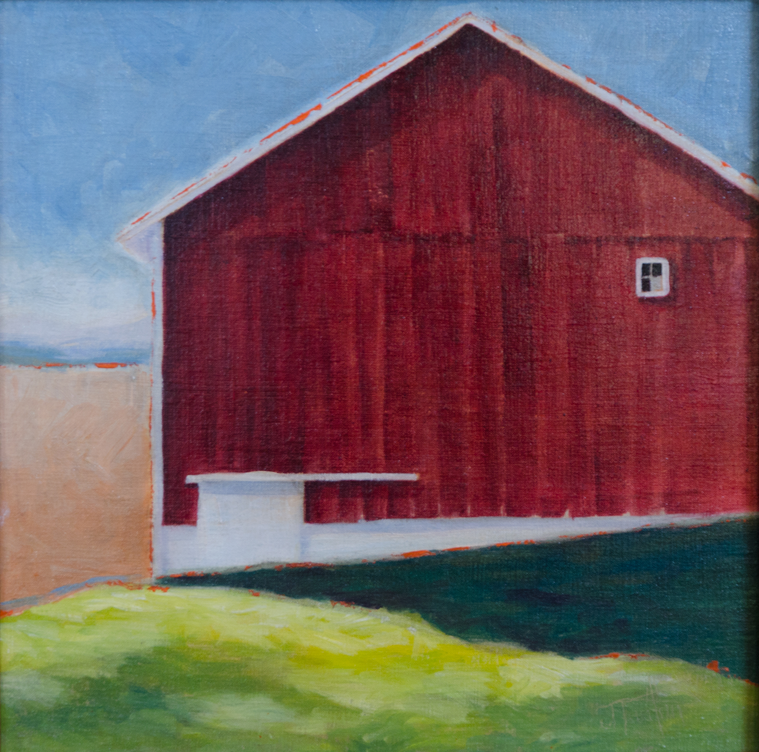 """""""The Lookout"""" ©2015 Janice Tanton. Oil on linen. 12x12"""