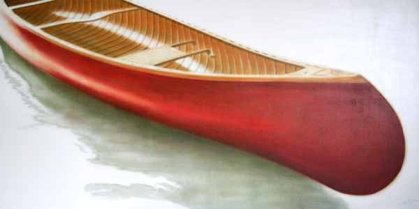 Red Canoe #10 by Janice Tanton