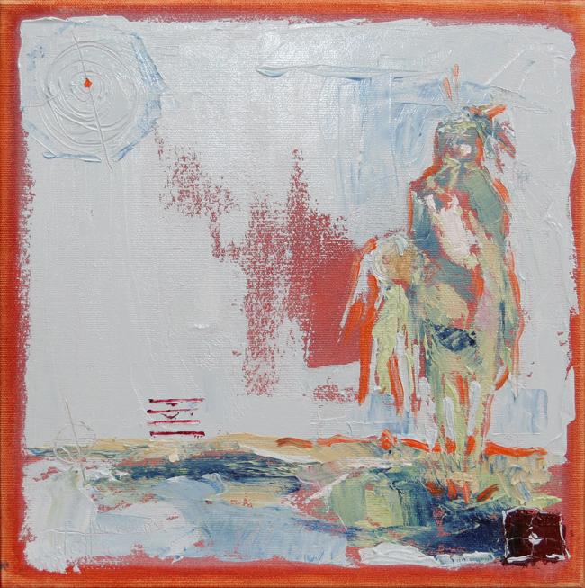 Indian Smith ©2011 Janice Tanton. Oil on canvas. 12x12