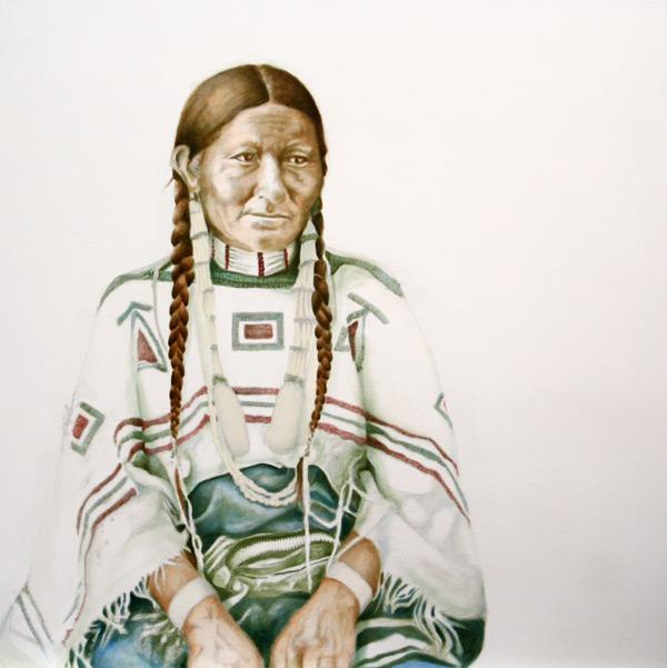 """Wife of..."" #2 ©2011 Janice Tanton. 30x30 oil on linen."