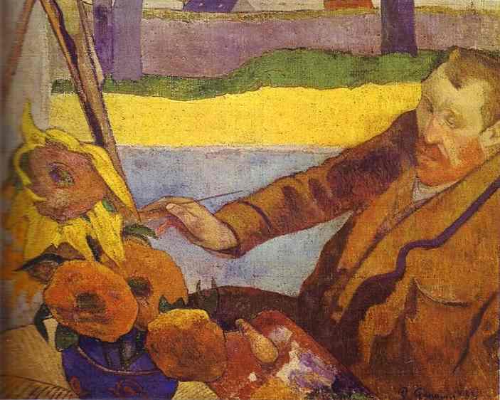 Painting Van Gogh Sunflowers