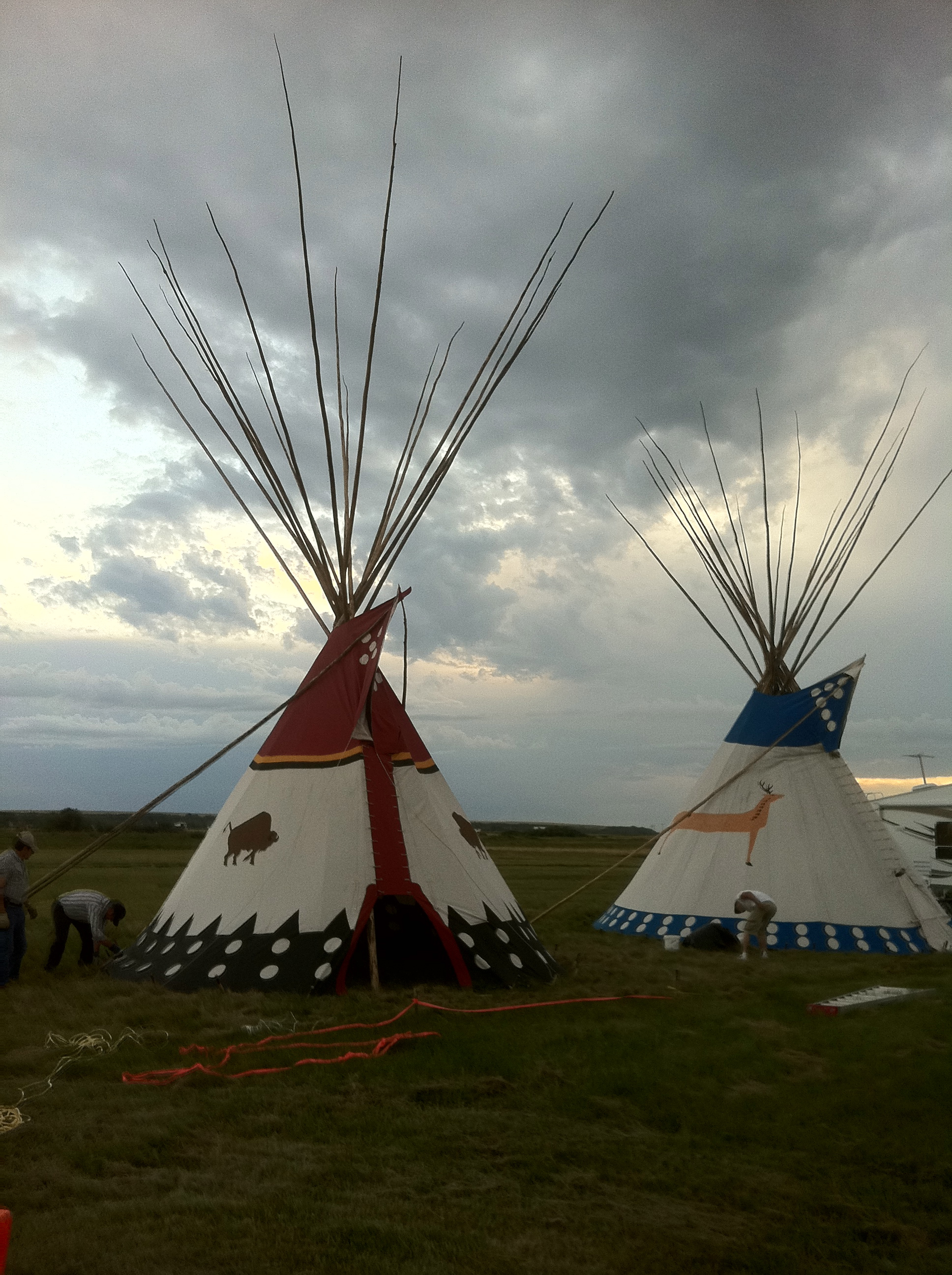 Our tipi at Siksika