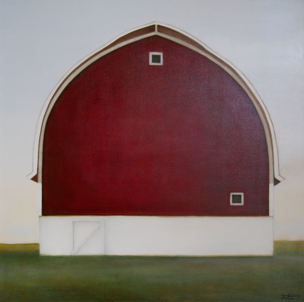 """""""Sentinel"""" ©2011 Janice Tanton. Oil on Linen. 40""""x40"""". All Rights Reserved."""