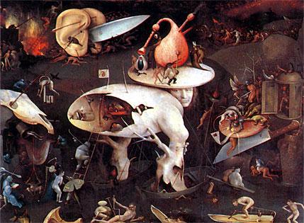 """Hell"" - Hieronymus Bosch circa 1500. Oil on Panel"