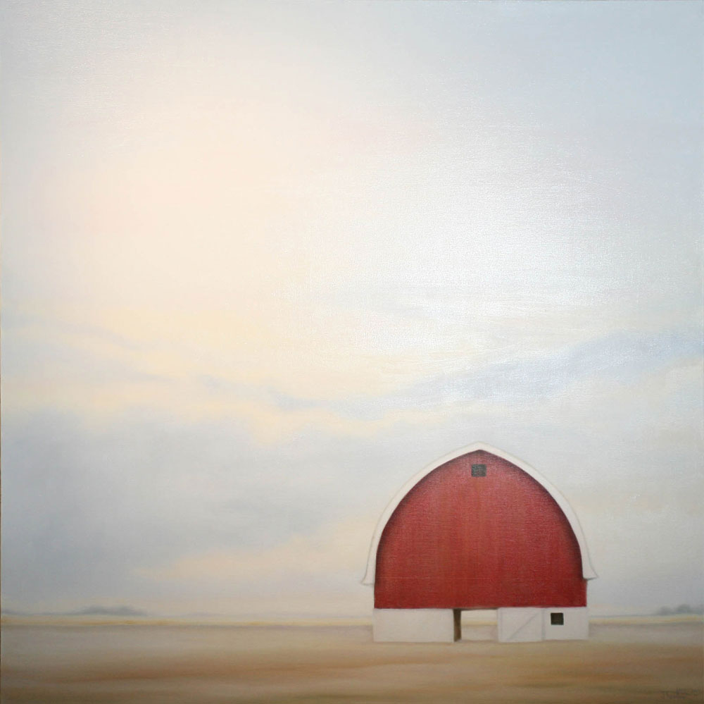 """The Occupant"" ©2011 Janice Tanton. Oil on linen. 48""x48"""