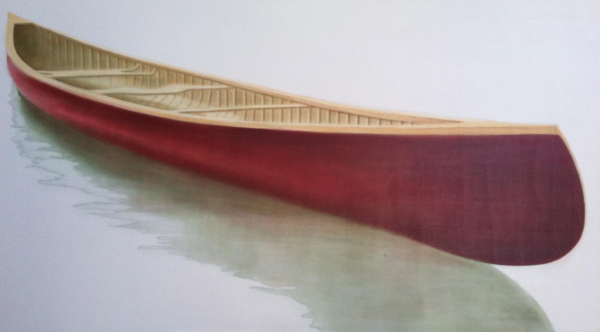 "Work In Progress - Red Canoe 2012 Janice Tanton. 40""x72"""