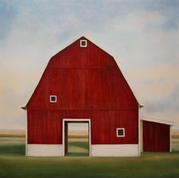 """""""On The Prairie"""" ©2012 Janice Tanton. Oil on linen. 30""""x30""""."""
