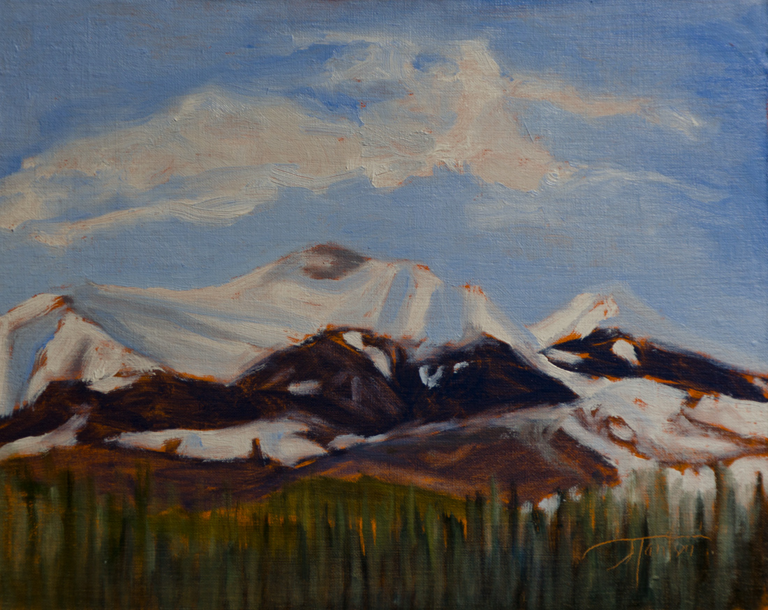 Moose Mountain plein air oil painting by Canadian Artist Janice Tanton.