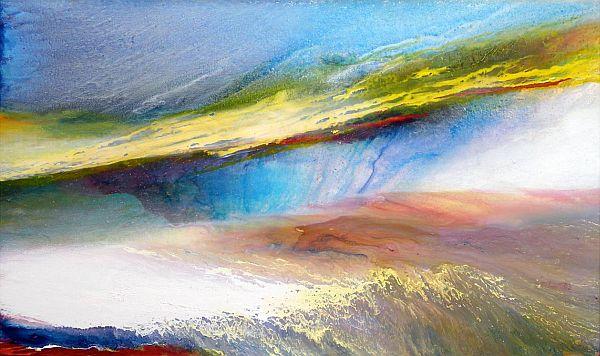 Landscape #232 ©2009 Norman Yates. Acrylic on canvas. 136.5 x 224 cm