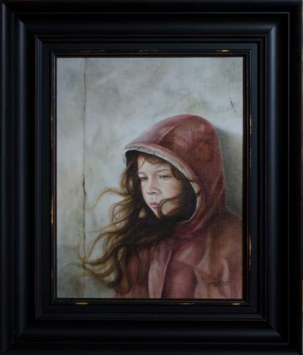 """The Artist's Daughter"" ©2012 Janice Tanton. Oil on linen panel. 14""x18"""