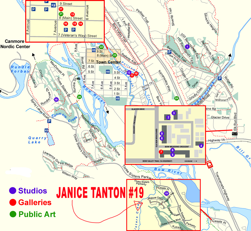 Canmore Studio Tour Map