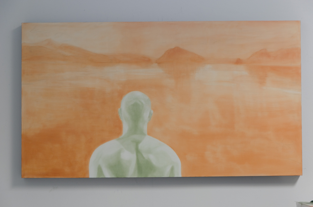 Stage 1 - Underpainting - 40x72 - Janice Tanton. Oil on linen