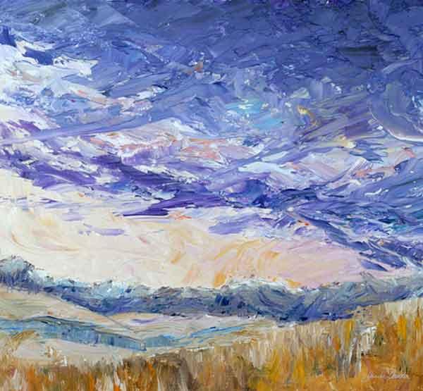 """Foothills"" ©Janice Tanton 2008. Oil on board. 8""x8"""