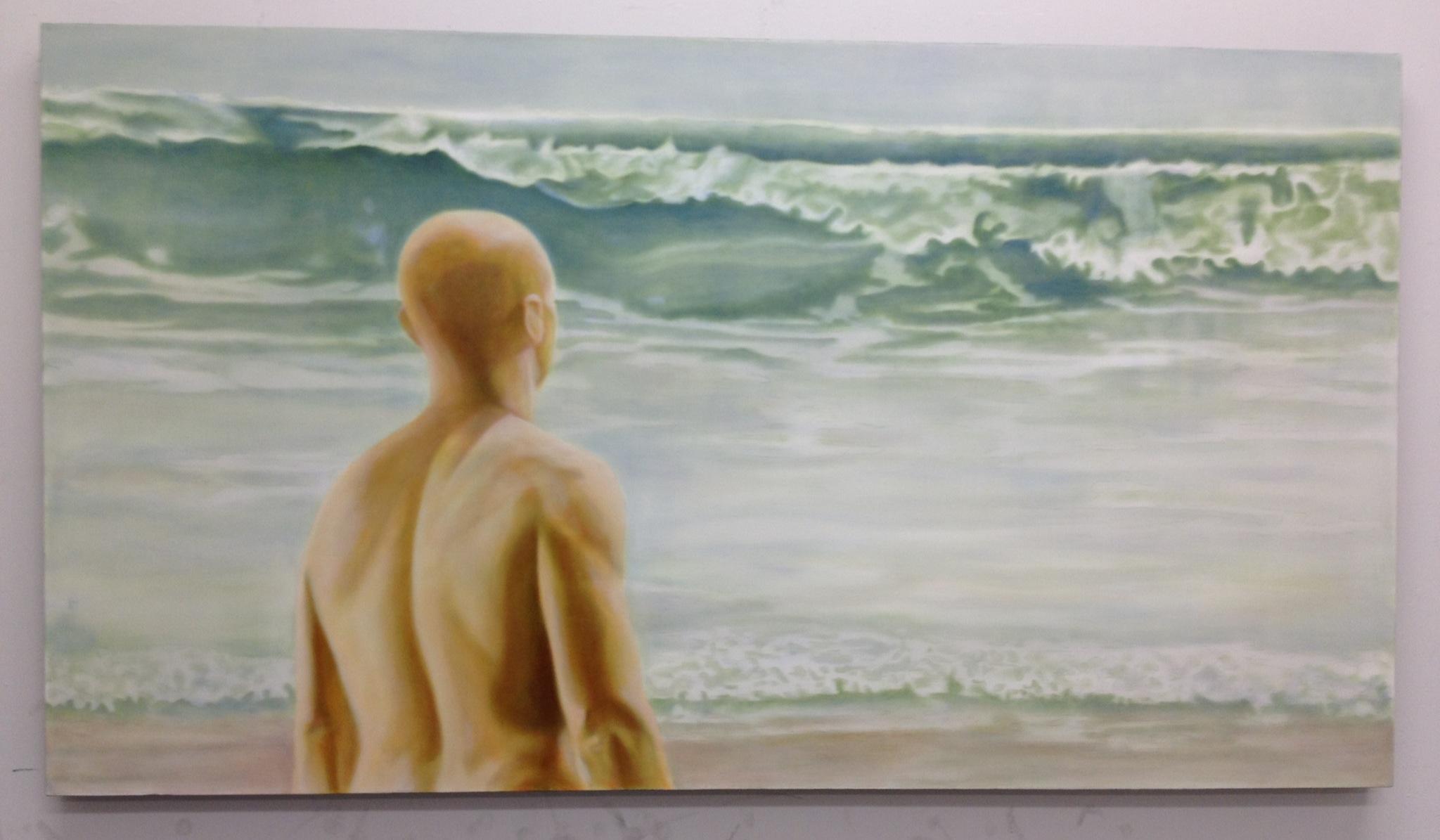 """Origin - North Beach, Haida Gwaii"" ©2012 Janice Tanton. Work In Progress. 40x72. Oil on linen."