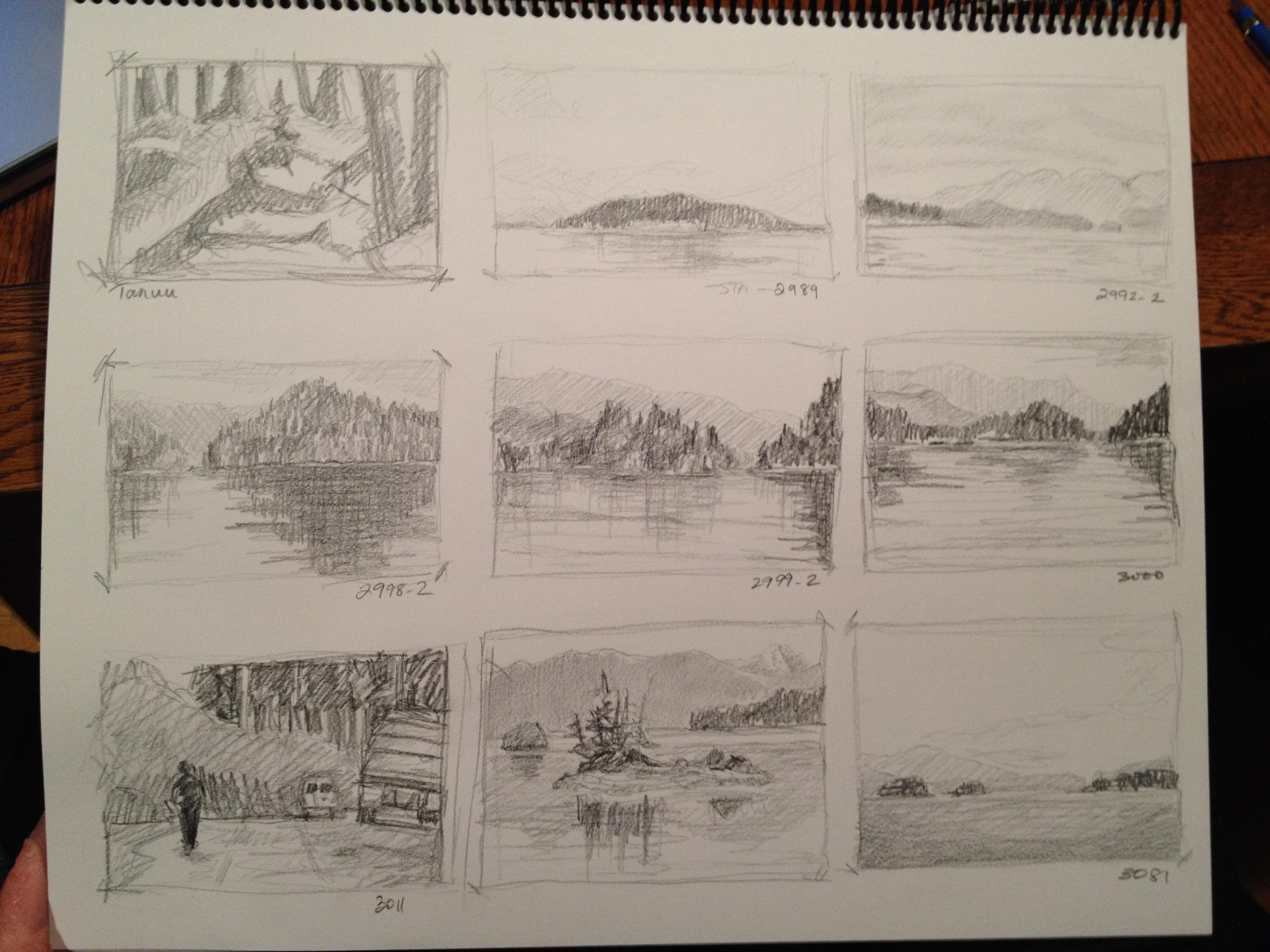 Thumbnail Sketches - Janice Tanton, Gwaii Haanas National Park