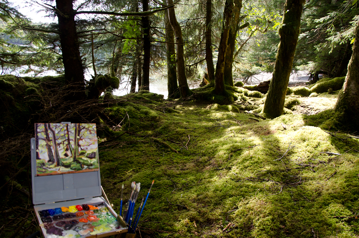 Power Painting with Janice Tanton & Moresby Explorers, Gwaii Haanas National Park